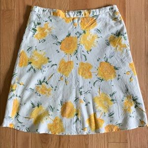 BR Yellow Flower Skirt
